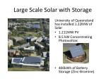 large scale solar with storage
