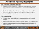 additional agency highlights1