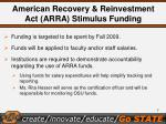 american recovery reinvestment act arra stimulus funding