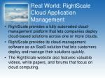 real world rightscale cloud application management