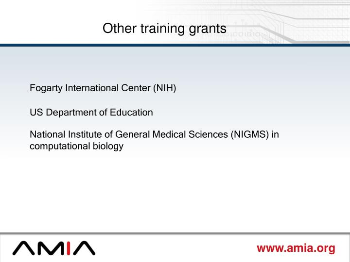 Other training grants