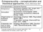 entrepreneurship conceptualization and theoretical approaches rocha birkinshaw 2007
