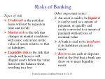 risks of banking