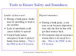 tools to ensure safety and soundness