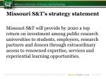 missouri s t s strategy statement