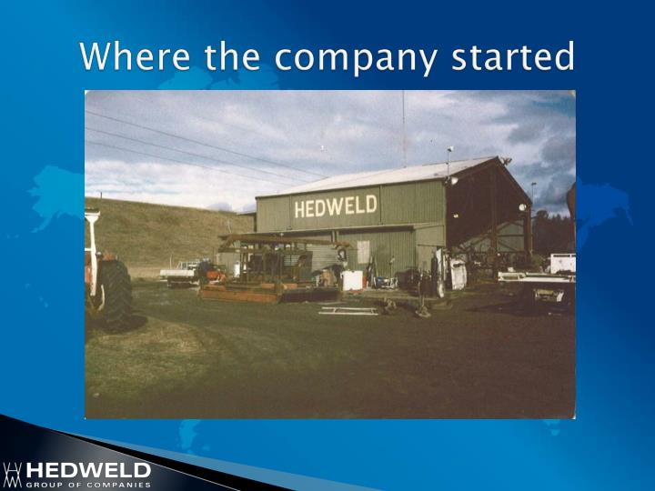 Where the company started