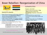 boxer rebellion reorganization of china