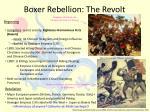 boxer rebellion the revolt