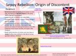 sepoy rebellion origin of discontent