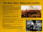 the boer wars before the conflict