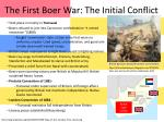the first boer war the initial conflict