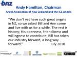 andy hamilton chairman angel association of new zealand and the ice angels