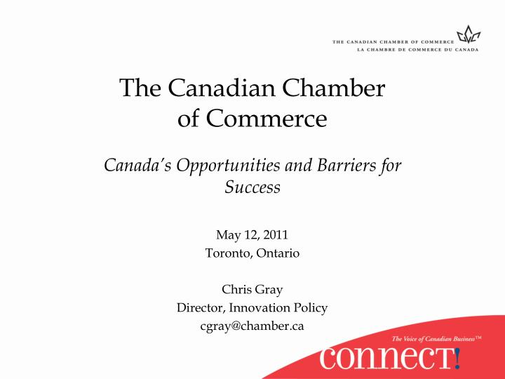 the canadian chamber of commerce n.
