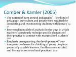 comber kamler 2005