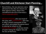 churchill and kitchener start planning