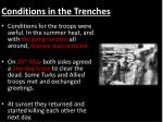 conditions in the trenches