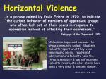 horizontal violence1