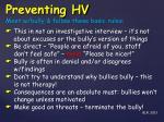 preventing hv