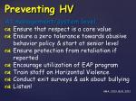preventing hv1