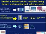 paediatric antiretrovirals simplified dosing formats and analysing their adverse events