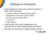 software in enterprise