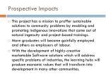 prospective impacts