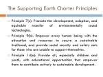 the supporting earth charter principles