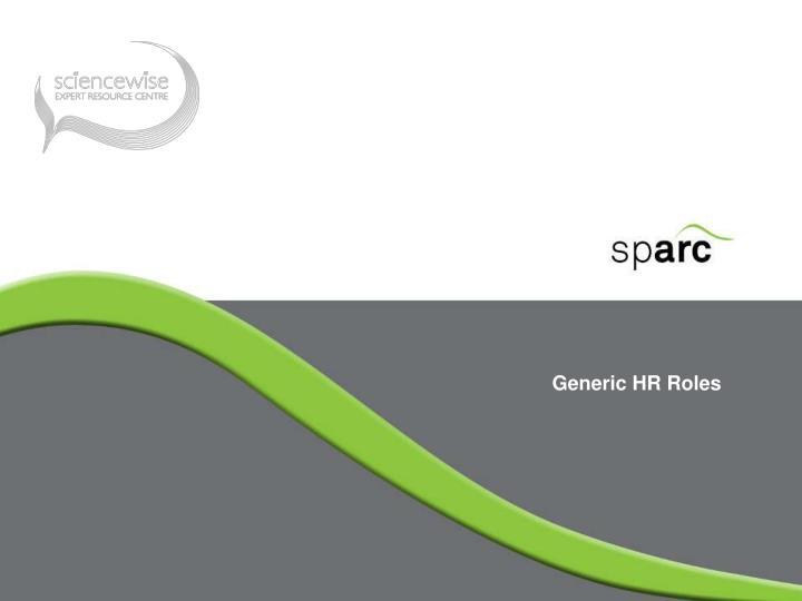 Generic HR Roles