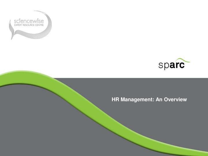 HR Management: An Overview