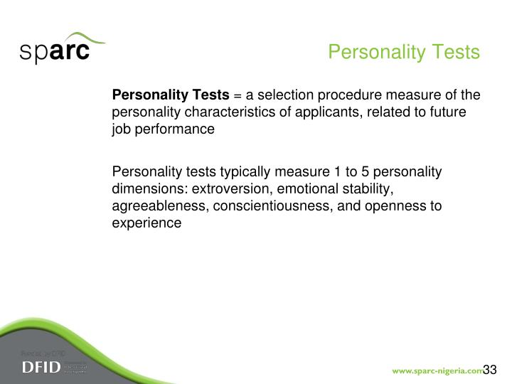 Personality Tests