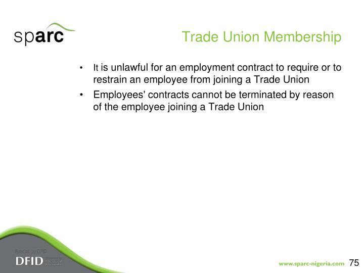 Trade Union Membership