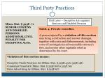 third party practices