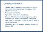 our requirements1