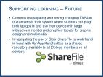 supporting learning future