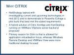 why citrix
