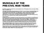 musicals of the pre civil war years