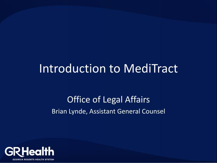 introduction to meditract n.