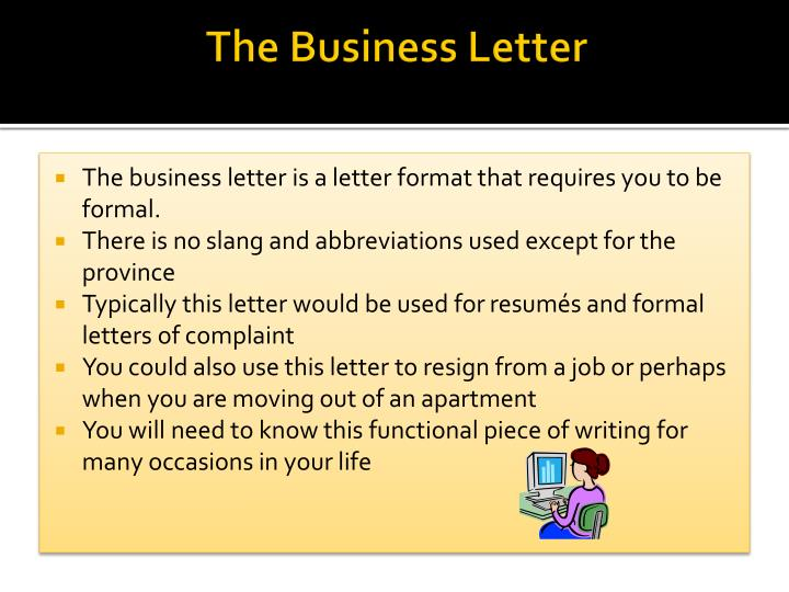 the business letter n.