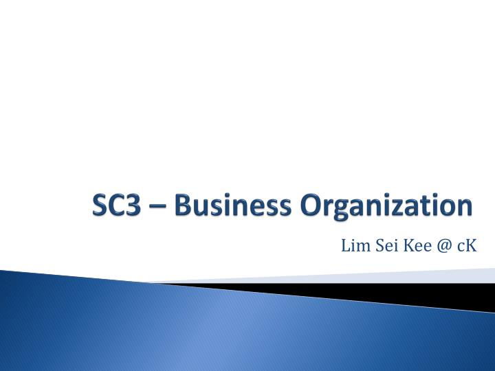sc3 business organization n.