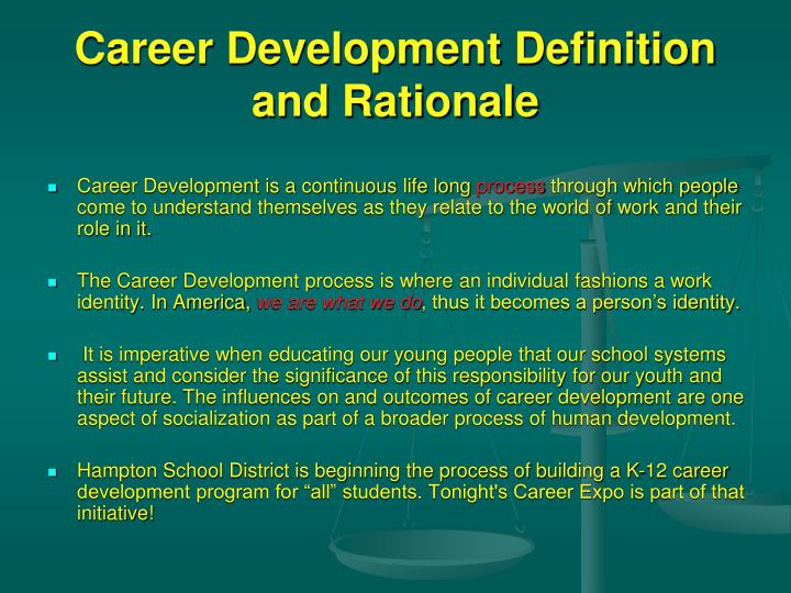 career development definitionand rationale