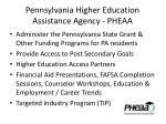 pennsylvania higher education assistance agency pheaa