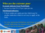 who are the extreme poor