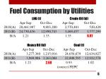 fuel consumption by utilities