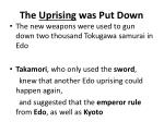 the uprising was put down