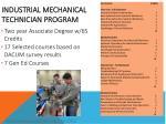 industrial mechanical technician program