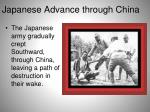 japanese a dvance through china