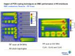 impact of pcb routing techniques on emc performance of hs interfaces emc evaluation results rf scan
