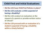 child find and initial evaluations