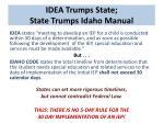 idea trumps state state trumps idaho manual