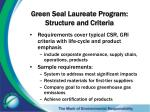 green seal laureate program structure and criteria1